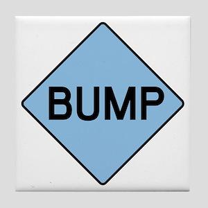 BABY BUMP (BLUE) Tile Coaster