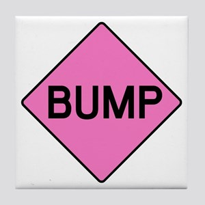BABY BUMP (PINK) Tile Coaster