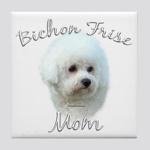 Bichon Mom2 Tile Coaster
