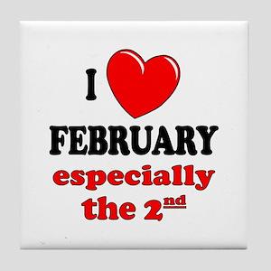 February 2nd Tile Coaster