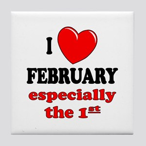 February 1st Tile Coaster