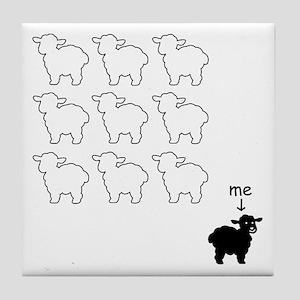 Black Sheep Tile Coaster