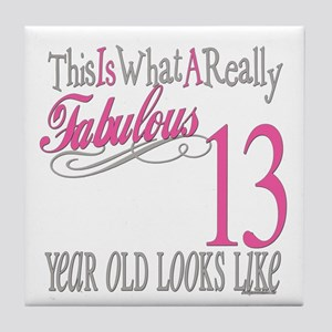 13th Birthday Gifts Tile Coaster