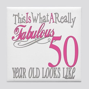 50th Birthday Gifts Tile Coaster