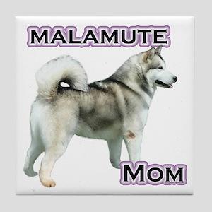 Malamute Mom4 Tile Coaster