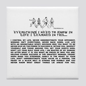 everything I need to know in life-TKD Tile Coaster