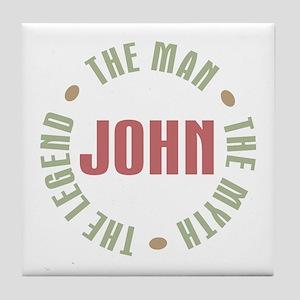 John Man Myth Legend Tile Coaster
