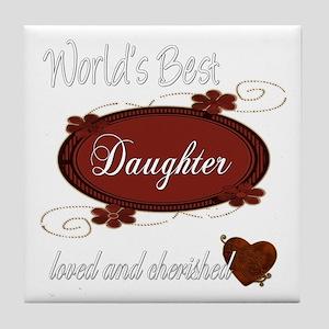 Cherished Daughter Tile Coaster