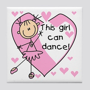 This Girl Can Dance Tile Coaster