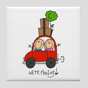 Car We're Moving Tile Coaster