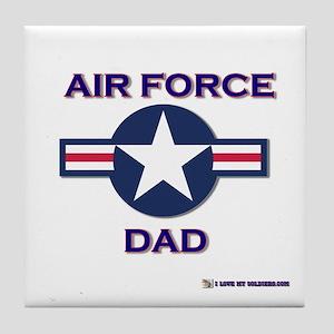 air force dad Tile Coaster