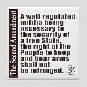 2nd Amendment Tile Coaster
