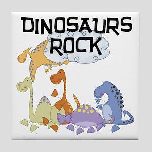 Dinosaurs Rock Tile Coaster