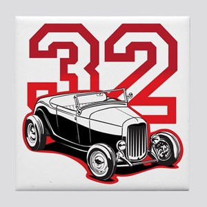 '32 Roadster in Red Tile Coaster