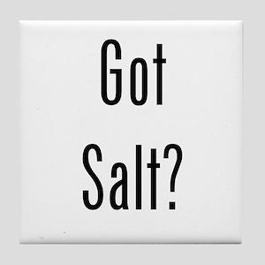 Got Salt? Black Tile Coaster