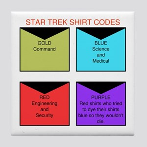 Star trek TOS shirt codes Tile Coaster