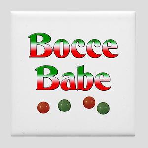 Bocce Babe Tile Coaster