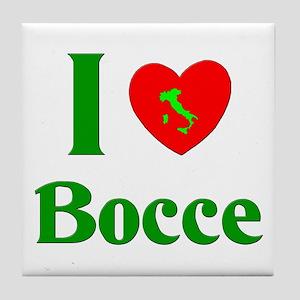 I Love Bocce Tile Coaster