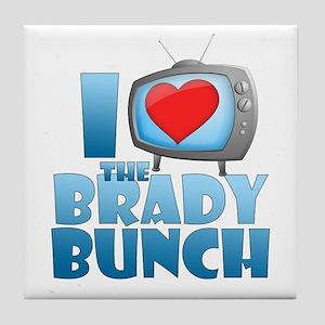 I Heart The Brady Bunch Tile Coaster
