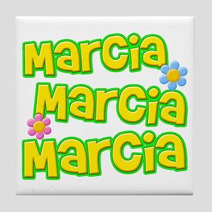 Marcia, Marcia, Marcia Tile Coaster