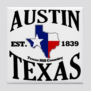 Austin, Texas - Texas Hill Country Towns Tile Coas