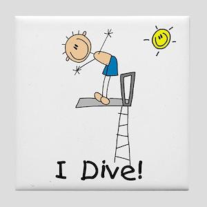 Boy I Dive Tile Coaster