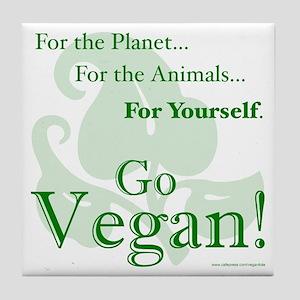 Go Vegan! Tile Coaster