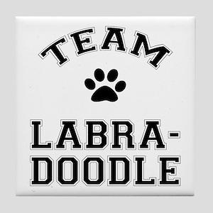 Team Labradoodle Tile Coaster