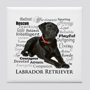 Black Lab Traits Tile Coaster