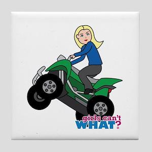 ATV Woman Blonde Tile Coaster