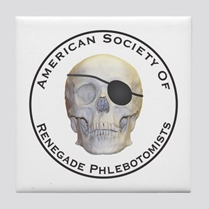 Renegade Phlebotomists Tile Coaster