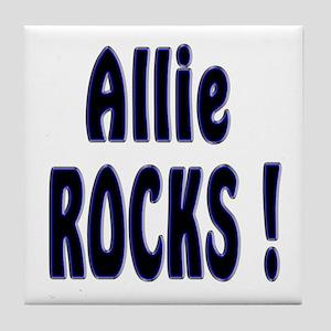 Allie Rocks ! Tile Coaster