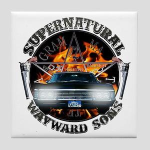 Supernatural Wayward Sons silver Tile Coaster