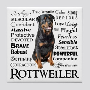 Rottie Traits Tile Coaster