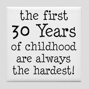 30 Years Childhood Tile Coaster