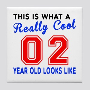 Really Cool 02 Birthday Designs Tile Coaster