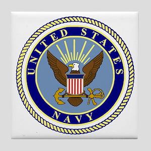 Navy-Logo-9 Tile Coaster