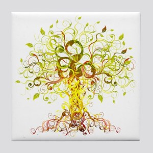 Tree Art Tile Coaster