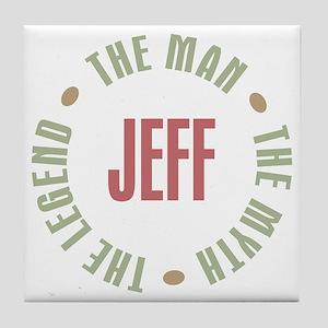 Jeff Man Myth Legend Tile Coaster