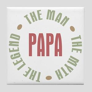 Papa Man Myth Legend Tile Coaster