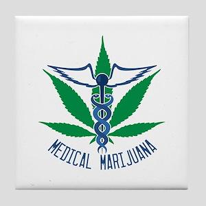 Medical Marijuana Tile Coaster