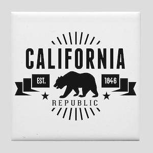 California Republic Tile Coaster