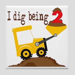 I Dig Being 2 Tile Coaster