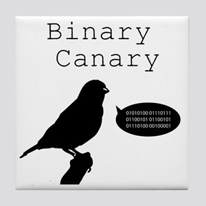 binarycanary Tile Coaster