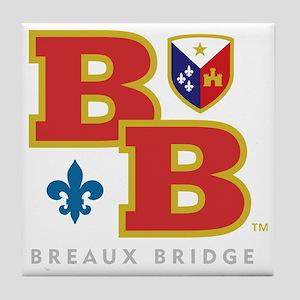 Cadien Breaux Bridge Monoram Tile Coaster