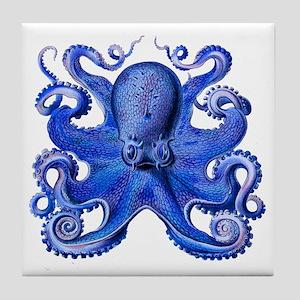 Blue Octopus Tile Coaster
