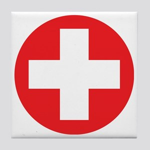 red cross Tile Coaster