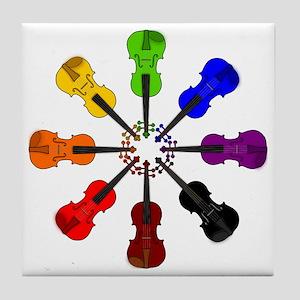 circle_of_violins Tile Coaster