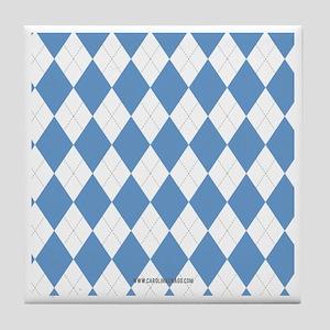 UNC Carolina Blue Argle Basketball Tile Coaster