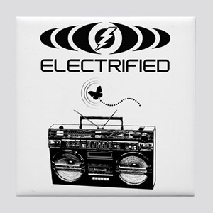 Electrified Boom Box Tile Coaster